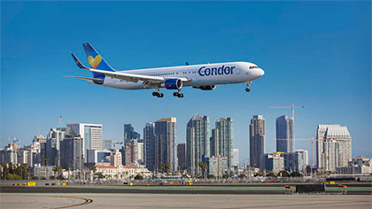 San Diego Nonstop flight to Germany, Condor Airlines